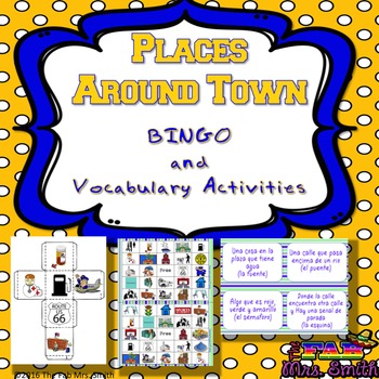 Places Around Town BINGO and Other Vocab Activities