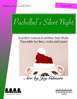 Pachelbel's Silent Nigh_Studio License_Christmas Ensemble for flute violin piano