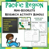 Pacific West Region Bundle 5 State Webquests Mini Book Research Activities