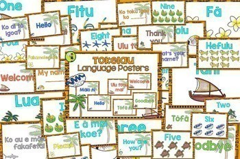 Pacific BUNDLE Greetings Introductions Farewells Classroom Display Posters