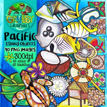 Pacific Island Objects & Artefacts Clip Art
