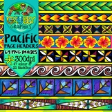 Pacific Island Themed Page headers, footers & borders