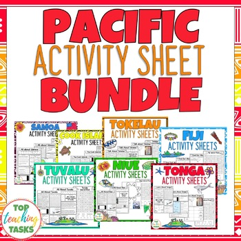 Pacific Islands Activity Sheets BUNDLE Reading and Writing Activities