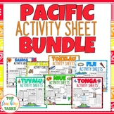 Pacific Islands Activity Sheets BUNDLE Reading and Writing