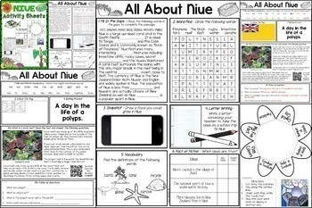 Pacific Islands Reading and Writing Activities BUNDLE