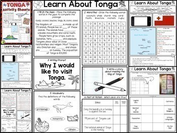 Pacific Islands MEGA BUNDLE Reading, Writing and Language Activities