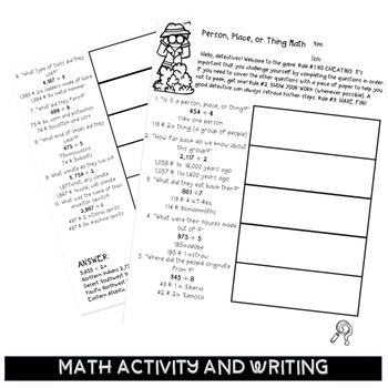 Integrating social studies and language arts with math worksheets