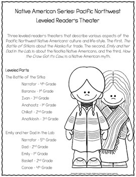 Pacific Northwest Native Americans Readers Theater {Leveled Parts}