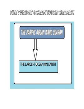 Pacific Ocean Word Search