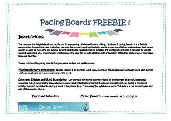 Pacing Board - Freebie!