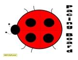 Pacing Board Ladybug Speech Freebie