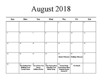 Pacing Calendar for English/Writing Course