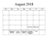 Pacing Calendar for English/Writing Course