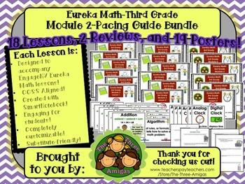 Pacing Guide Bundle Module 2 Eureka Math Third Grade