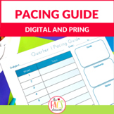 Curriculum Map (Pacing Guide) Template Editable