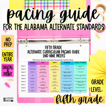 Pacing Guide For The New Alabama Alternate Achievement Standards Fifth Grade