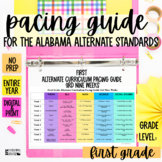Pacing Guide For The New Alabama Alternate Achievement Standards- First Grade