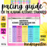 Pacing Guide For The New Alabama Alternate Achievement Standards- Kindergarten