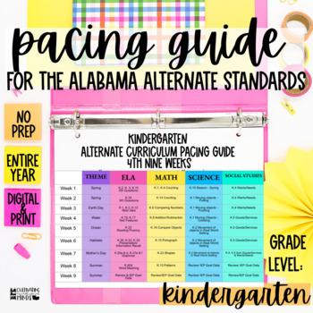 Pacing Guide For The New Alabama Alternate Achievement Standards Kindergarten