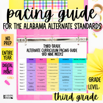 Third Grade Pacing Guide Worksheets Teaching Resources TpT