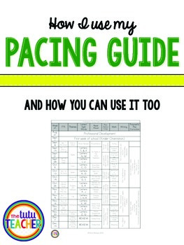 Pacing Guide Freebie