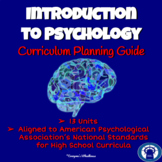 Introduction to Psychology Curriculum Planning Guide