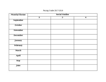 Pacing Guide Outline