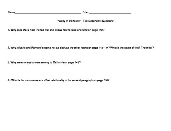 Pacing Guide and Text Dependent Questions, Treasures (2009), Unit 2, Grade 5