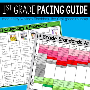 First Grade Pacing Guide
