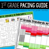 First Grade Year Long Pacing Guide