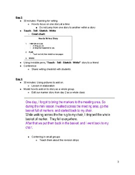 Pacing Guide for Grade 1, Unit 1 Lucy Calkins Writing