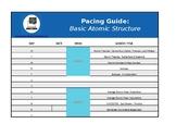 Pacing Worksheet, Basic Atomic Structure (Excel)