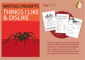 Pack 1: Lots Of Writing Prompts About Things I Like And Dislike (7-11 years)