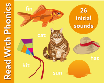 Pack 1. Play A Matching Game To Learn 26 Initial Consonant Sounds (3+)