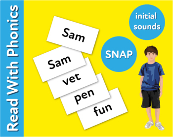 Pack 16. Words To Play Snap: Fun Ways To Practise 3 Letter Phonic Words (3+)