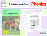 Pack 17. Words To Make Some More Sentences With The Sentence Maker (3+