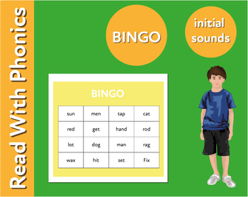 Pack 18 Words To Play Bingo Fun Ways To Practise 3 Letter Phonic