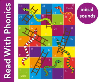 Pack 19. Play Snakes And Ladders: Fun Ways To Practise 3 Letter Phonic Words 3+