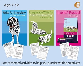 Pack 2:  Lots Of Writing Tasks With An Animal Theme (7-11 years)