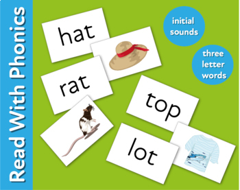 Pack 20. Reinforce Reading 3 Letter Words Finding Rhyming Pairs (3+)