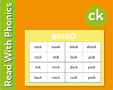 Pack 32. Play Bingo And Snap To Introduce The Phonic Sound 'ck' (3+)