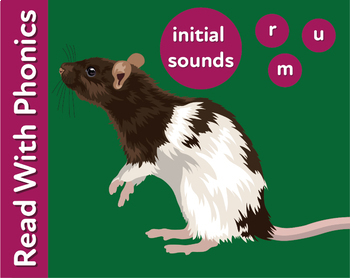 Pack 5. Learn The Initial Phonic Sounds 'r, m, u' (Pre Reader Work Pack) 3+