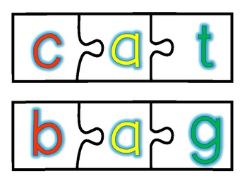 Pack Full of Puzzles - CVC Words