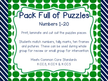 Pack Full of Puzzles - Numbers 1-20