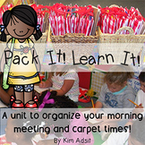 Morning Meeting Carpet Bags: Pack It! Learn It! by Kim Adsit