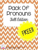 Pack Of Pronouns: Fall Edition!