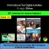 Informational Text Unit & Nonfiction Text Bell Ringers: Google Classroom Pack 2