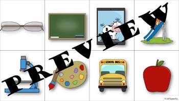 Back to School Backpack: Describe Vocab & Auditory Comprehension
