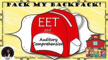 Back to School Backpack: Describe Vocab & Auditory Comprehension