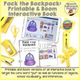 Interactive Book for Core Vocab: Pack the Backpack - Print